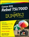 Canon EOS Rebel T5i700D For Dummies