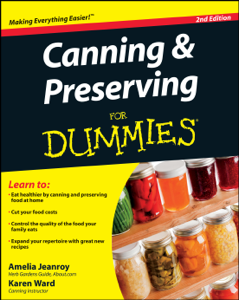 Canning and Preserving For Dummies Book Cover