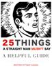 Timo Nanda - 25 Things a Straight Man Mustn't Say artwork