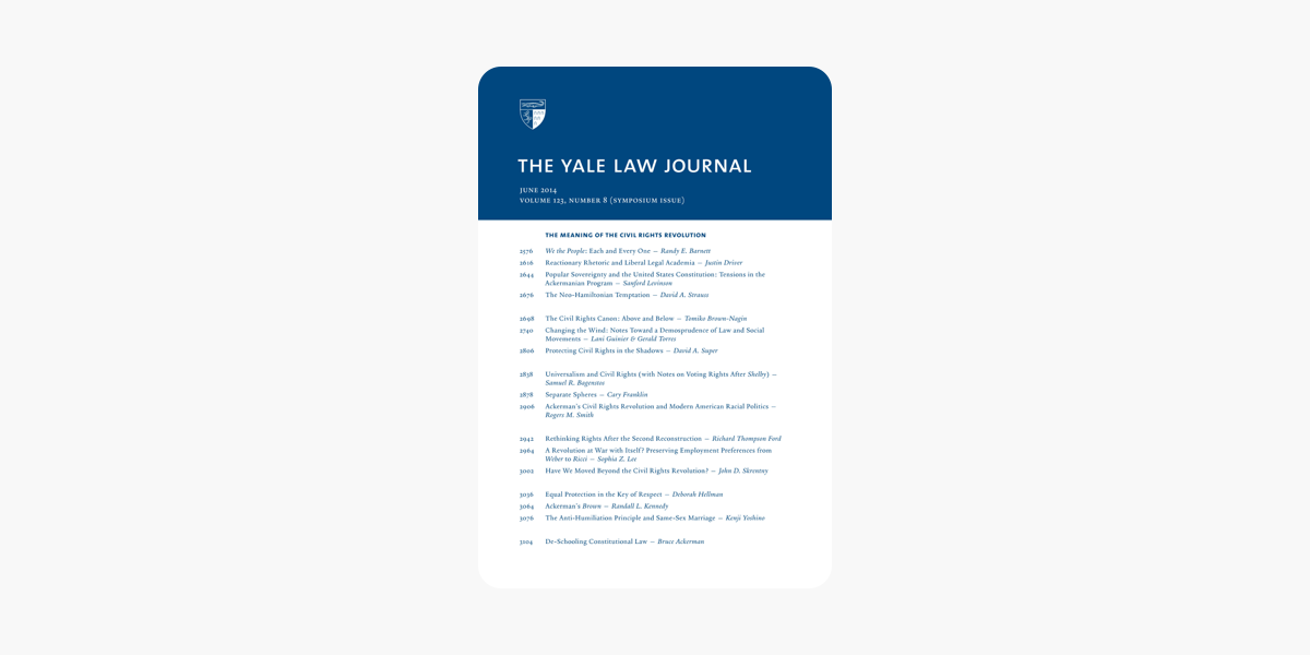 ‎Yale Law Journal: Symposium