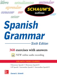 Schaum S Outline Of Spanish Grammar 6th Edition