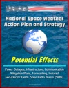 National Space Weather Action Plan And Strategy Potential Effects - Power Outages Infrastructure Communication Mitigation Plans Forecasting Induced Geo-Electric Fields Solar Radio Bursts SRBs