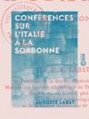 Confrences Sur LItalie  La Sorbonne