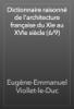 Eugène-Emmanuel Viollet-le-Duc - Dictionnaire raisonné de l'architecture française du XIe au XVIe siècle (6/9) artwork