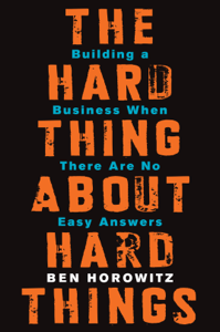 The Hard Thing About Hard Things La couverture du livre martien