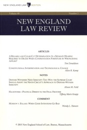 Download and Read Online New England Law Review: Volume 49, Number 2 - Winter 2015