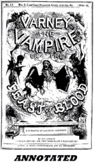 Varney The Vampire (Illustrated and Annotated); or The Feast of Blood