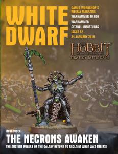 White Dwarf Issue 52: 24 January 2015 Copertina del libro
