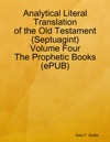 Analytical Literal Translation Of The Old Testament Septuagint