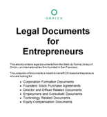 Legal Documents for Entrepreneurs
