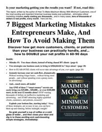 7 Biggest Marketing Mistakes Entrepreneurs Make book