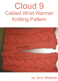Cloud 9 Wrist Warmer Knitting Pattern