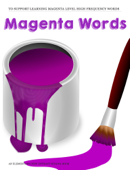 Magenta High Frequency Words