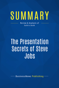 Summary: The Presentation Secrets of Steve Jobs La couverture du livre martien