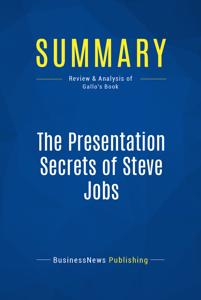 Summary: The Presentation Secrets of Steve Jobs La couverture du livre martien