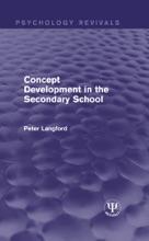 Concept Development In The Secondary School