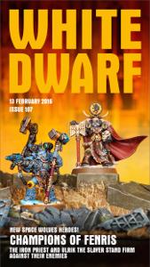 White Dwarf Issue 107: 13th February 2016  (Mobile Edition) Boekomslag