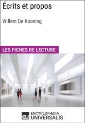 Download Écrits et propos de Willem De Kooning