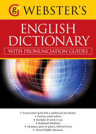 Webster's American English Dictionary (with pronunciation guides) book