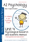 AQA A A2 Psychology Unit 4 Psychological Research And Scientific Method