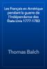 Thomas Balch - Les Français en Amérique pendant la guerre de l'indépendance des États-Unis 1777-1783 artwork