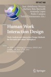 Human Work Interaction Design Analysis And Interaction Design Methods For Pervasive And Smart Workplaces