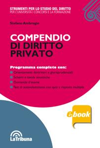 Compendio di diritto privato Copertina del libro