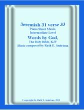 Jeremiah 31 Verse 33, Piano Sheet Music, Intermediate Level