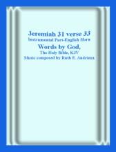 Jeremiah 31 Verse 33, Instrumental Part-Englsih Horn