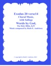 Book Title Exodus 20 Verse 14 Choral Music With Solfege