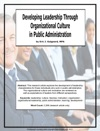Developing Leadership Through Organizational Culture In Public Administration