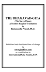 THE BHAGAVAD-GITA (The Sacred Song) A Modern English Translation