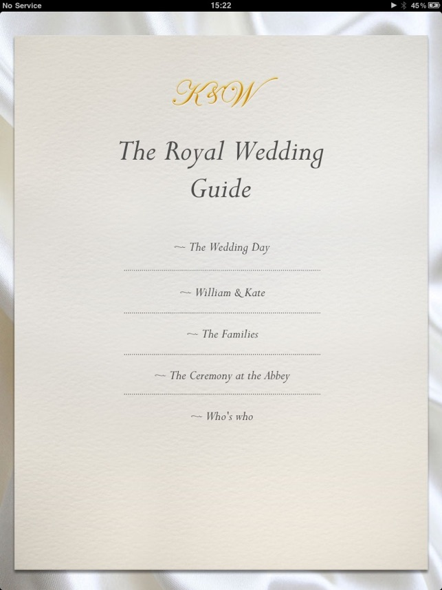 The Royal Wedding; Your Personal Guide on the App Store