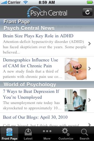 Psych Central screenshot three