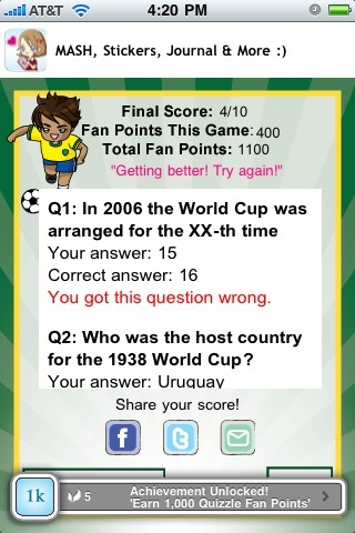 World Soccer Quizzle™ - Sports Trivia screenshot-3
