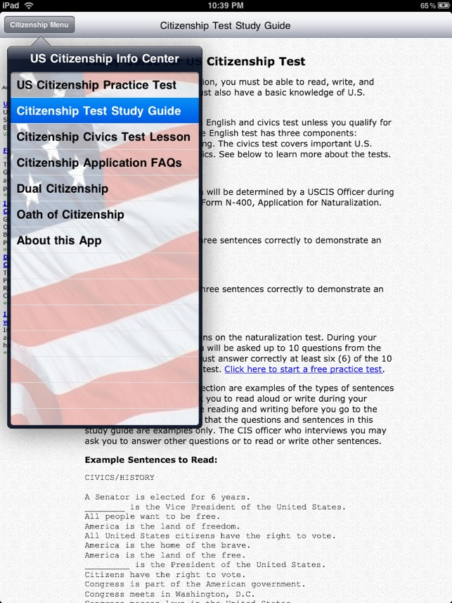 Free Us Citizenship Test On The App Store