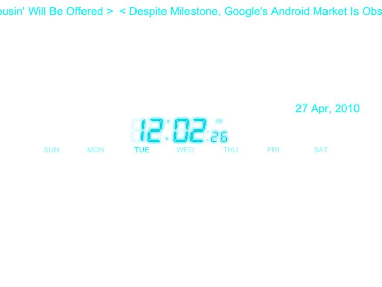Clap Neon Lamp w/clock for iPad screenshot-3