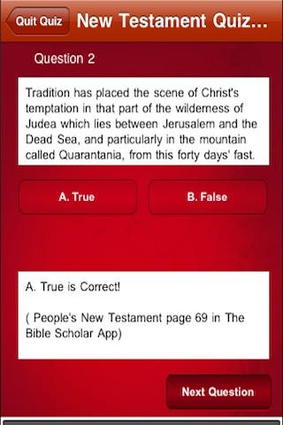 Bible Scholar Quiz screenshot-3