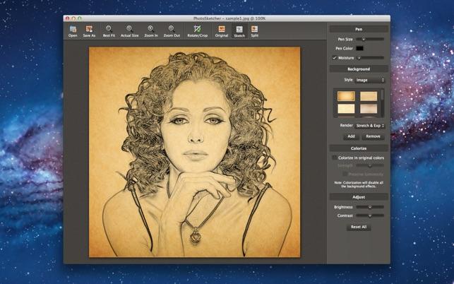 Photo To Line Art Converter Online : Photosketcher on the mac app store