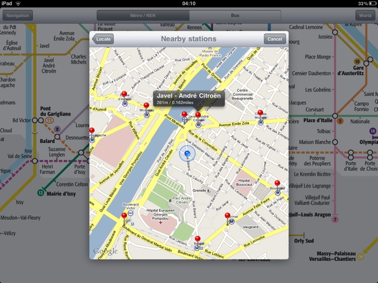 Paris Metro for iPad screenshot-4