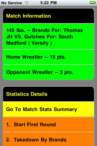 Quick Stats for Wrestling