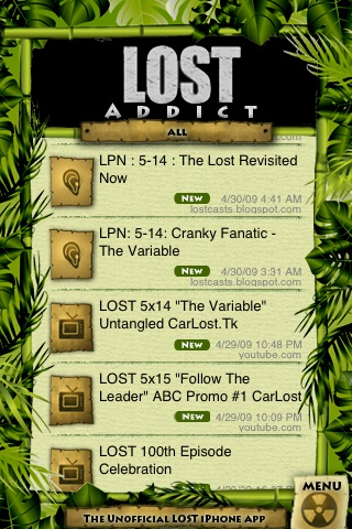 LOST ADDICT - The Unofficial LOST iPhone Fan APP