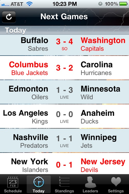 NHL Schedule 2009/10 screenshot-2