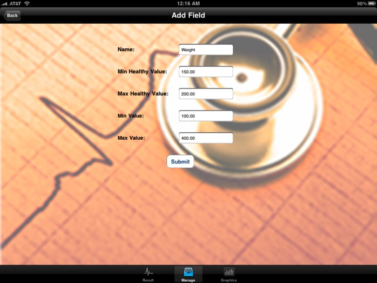 "Blood Test Monitor ""for iPad"" Lite"