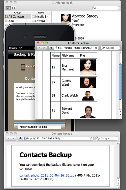 Contacts Air Backup (Backup, Restore, Export) screenshot-4