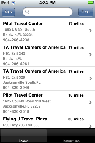 Truck Stop Locator screenshot 2