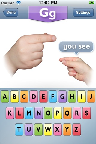 My Smart Hands Finger Spelling Game