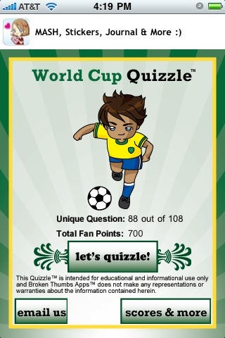 World Soccer Quizzle™ - Sports Trivia screenshot-1