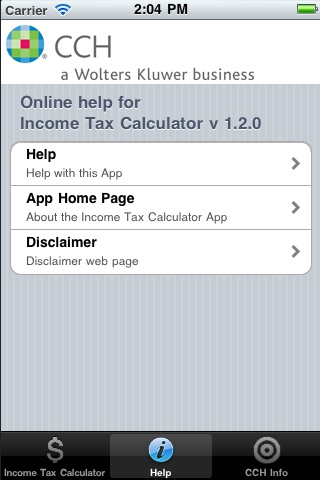 CCH Income Tax Rates Calculator Lite screenshot-3