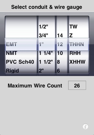 Conduit-Wire Calculator